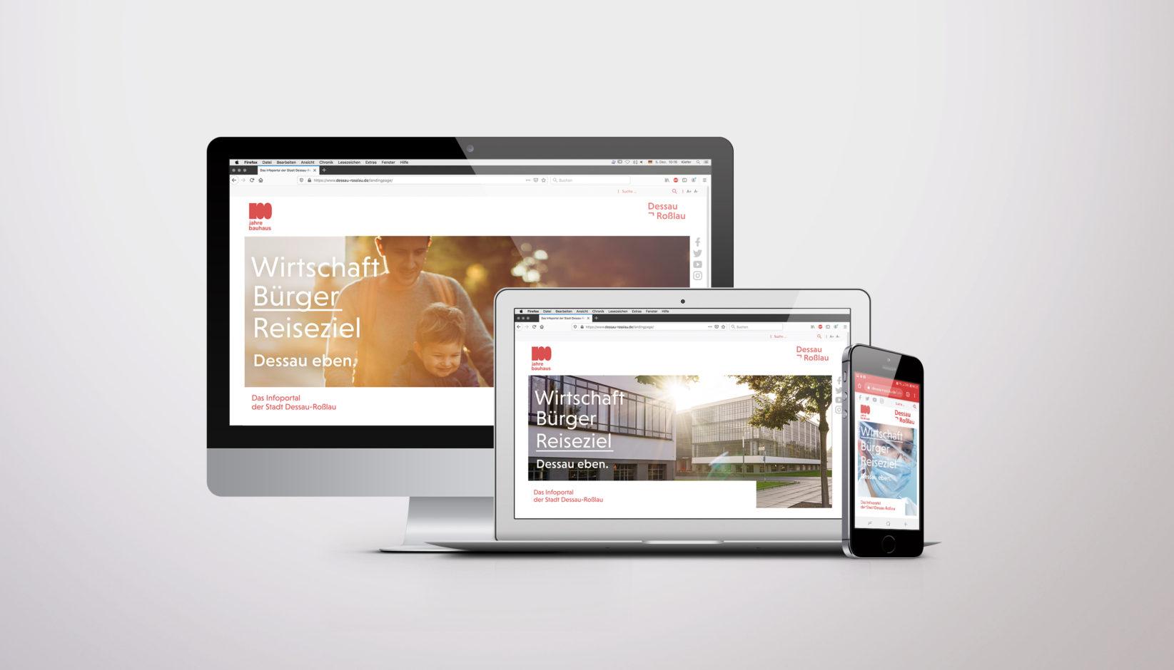 Dessau-Roßlau Website Landingpage
