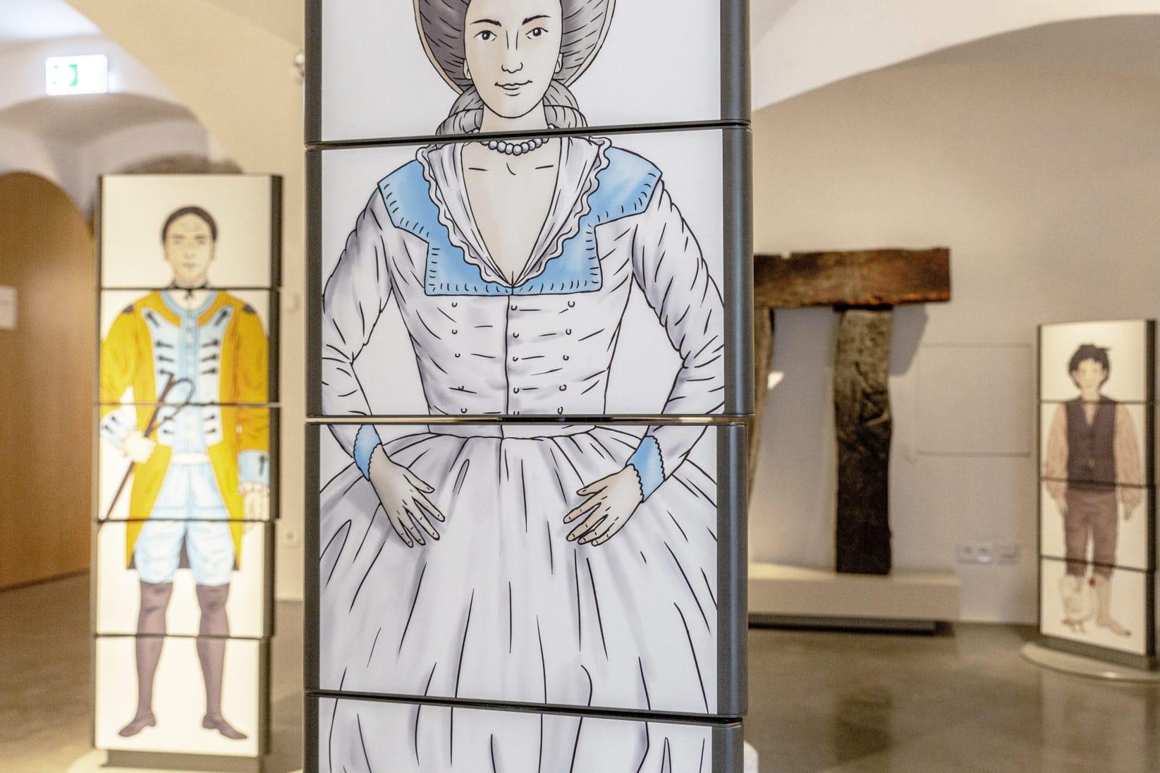Ausstellung BurgVischering Ausstellungsgrafik Illustration