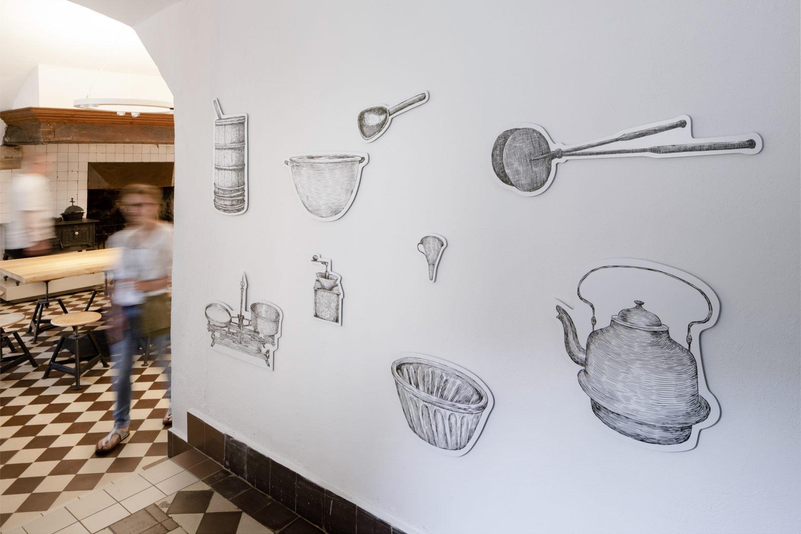 Ausstellung BurgVischering Ausstellungsgrafik Illustration Wandgrafik