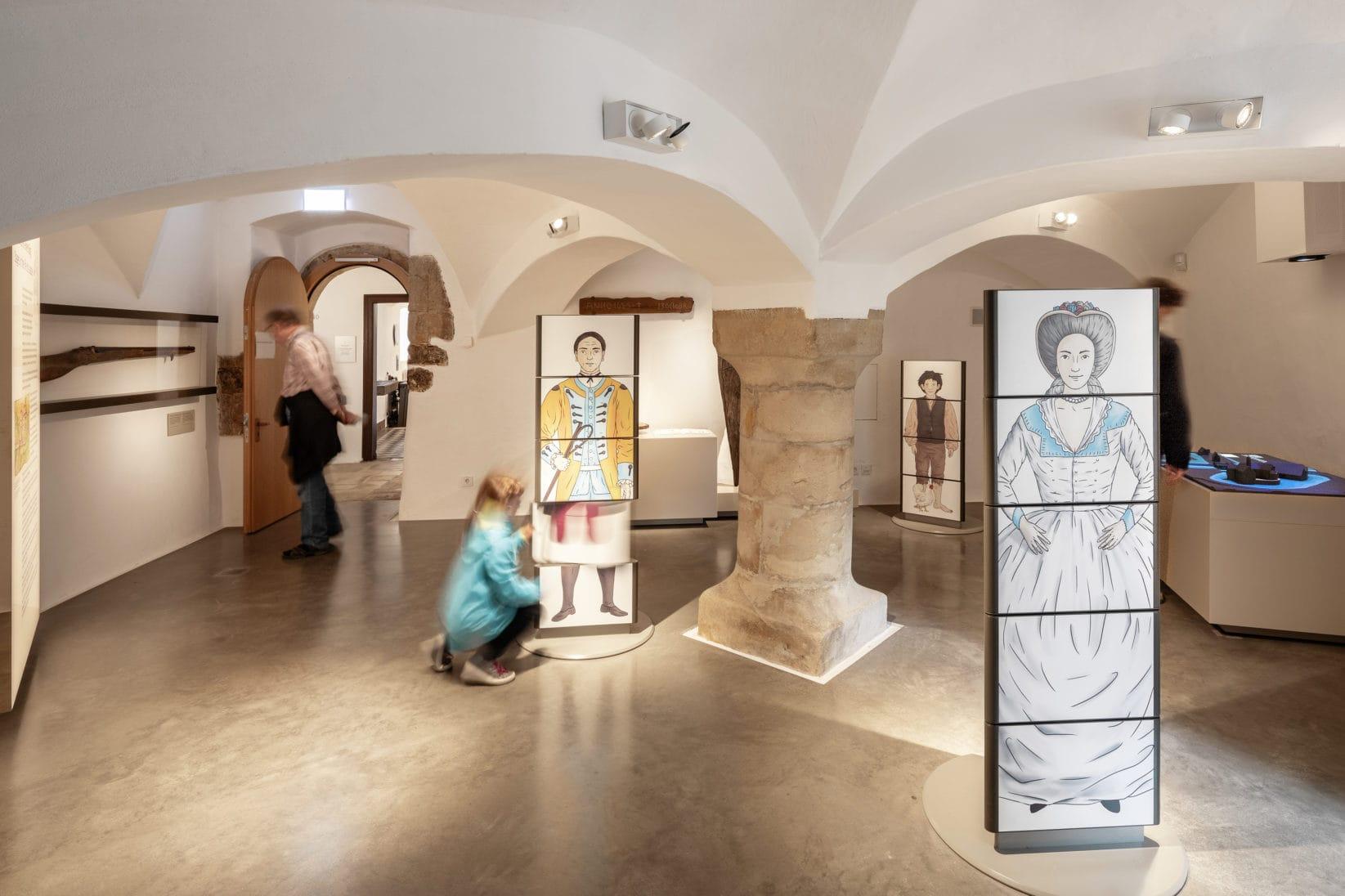 Ausstellung BurgVischering Ausstellungsraum Uebersicht