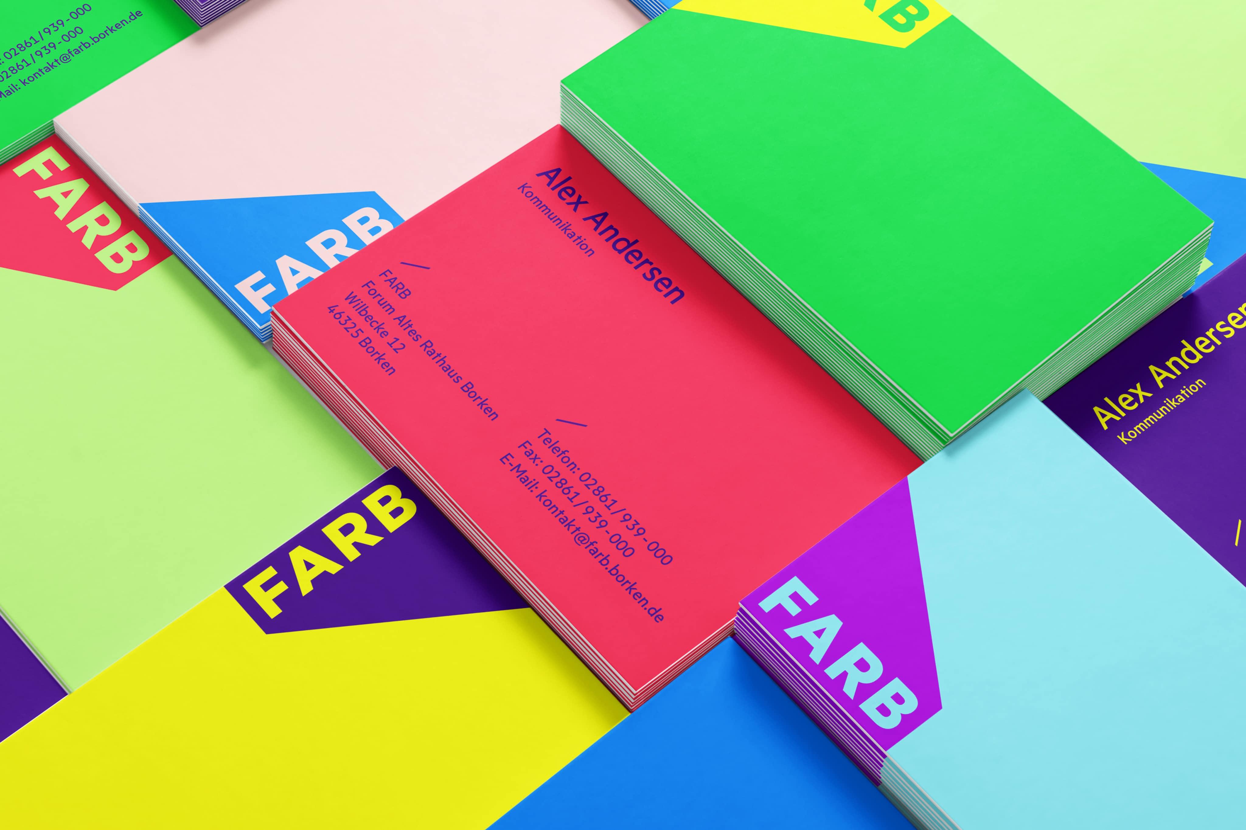 FARB Vistenkarten farbig