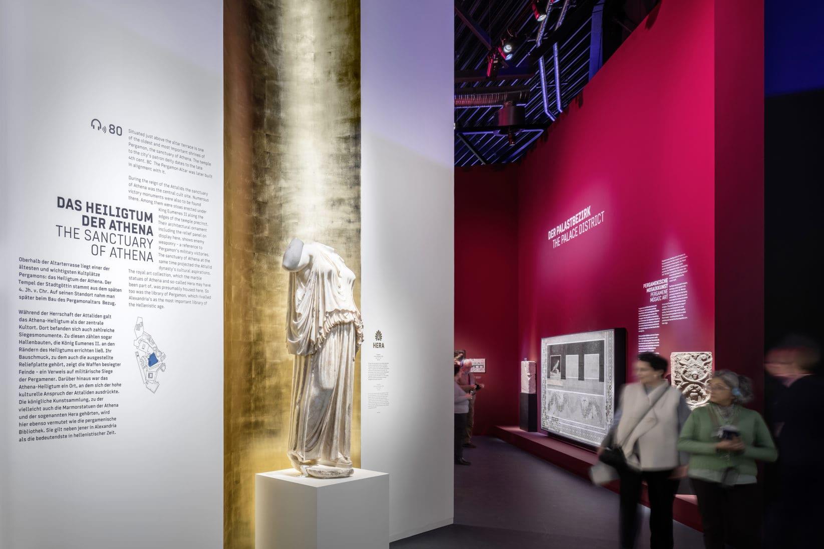 Museumsinsel Berlin Pergamon Ausstellung Panorama Athena