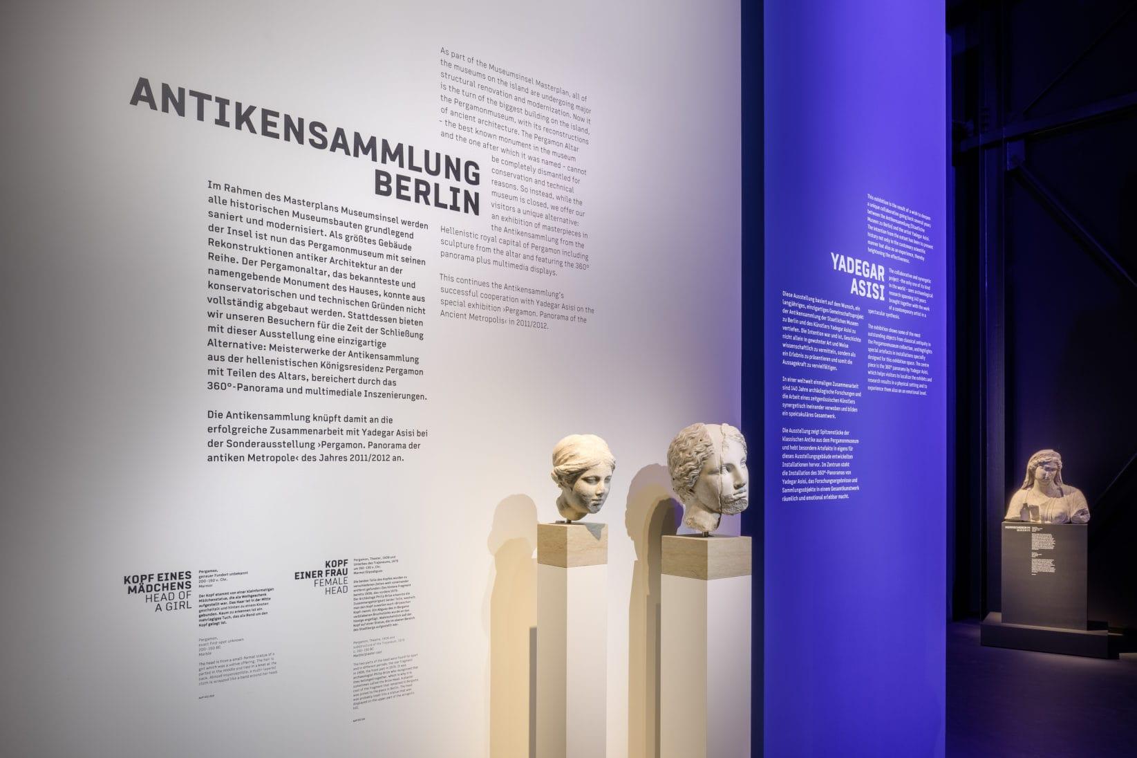 Museumsinsel Berlin Pergamon Austellungsgrafik Antikensammlung