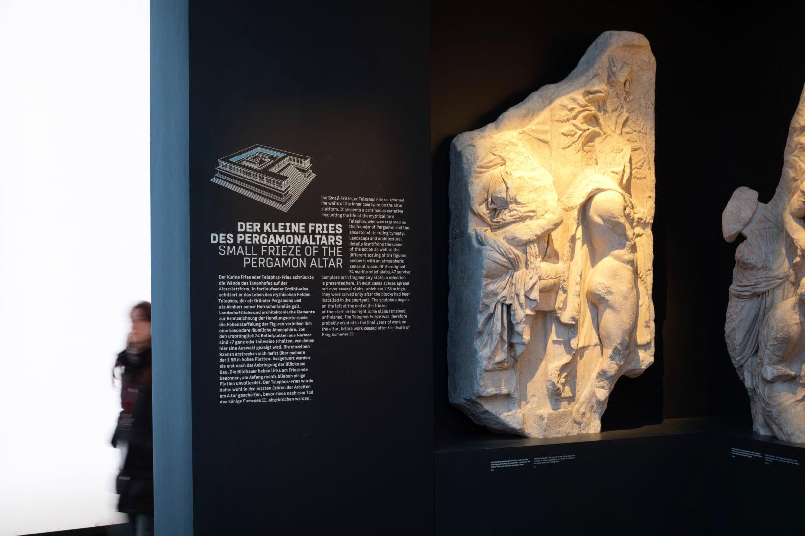 Museumsinsel Berlin Pergamonaltar Grafik Typografie