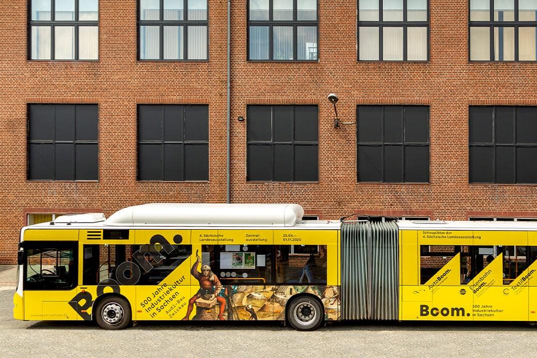 Boom. Sachsen Bus Ausschnitt
