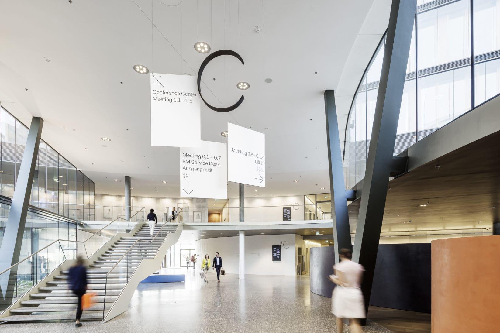 ErsteCampus Leitsystem Foyer