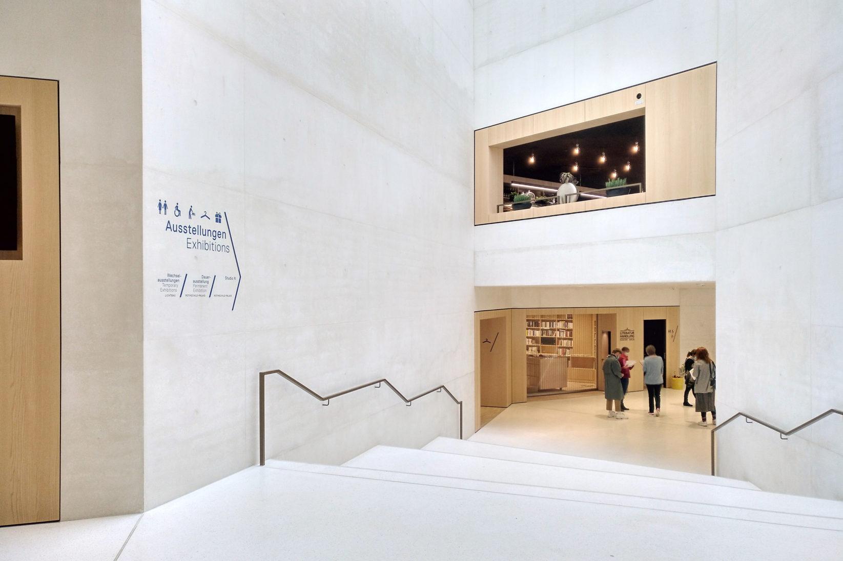 Jüdisches Museum Frankfurt Signage Foyer