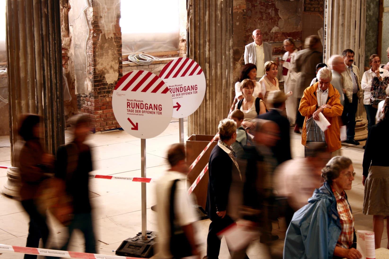 Museumsinsel Berlin Baustellenkommunikation Innen Rundgang