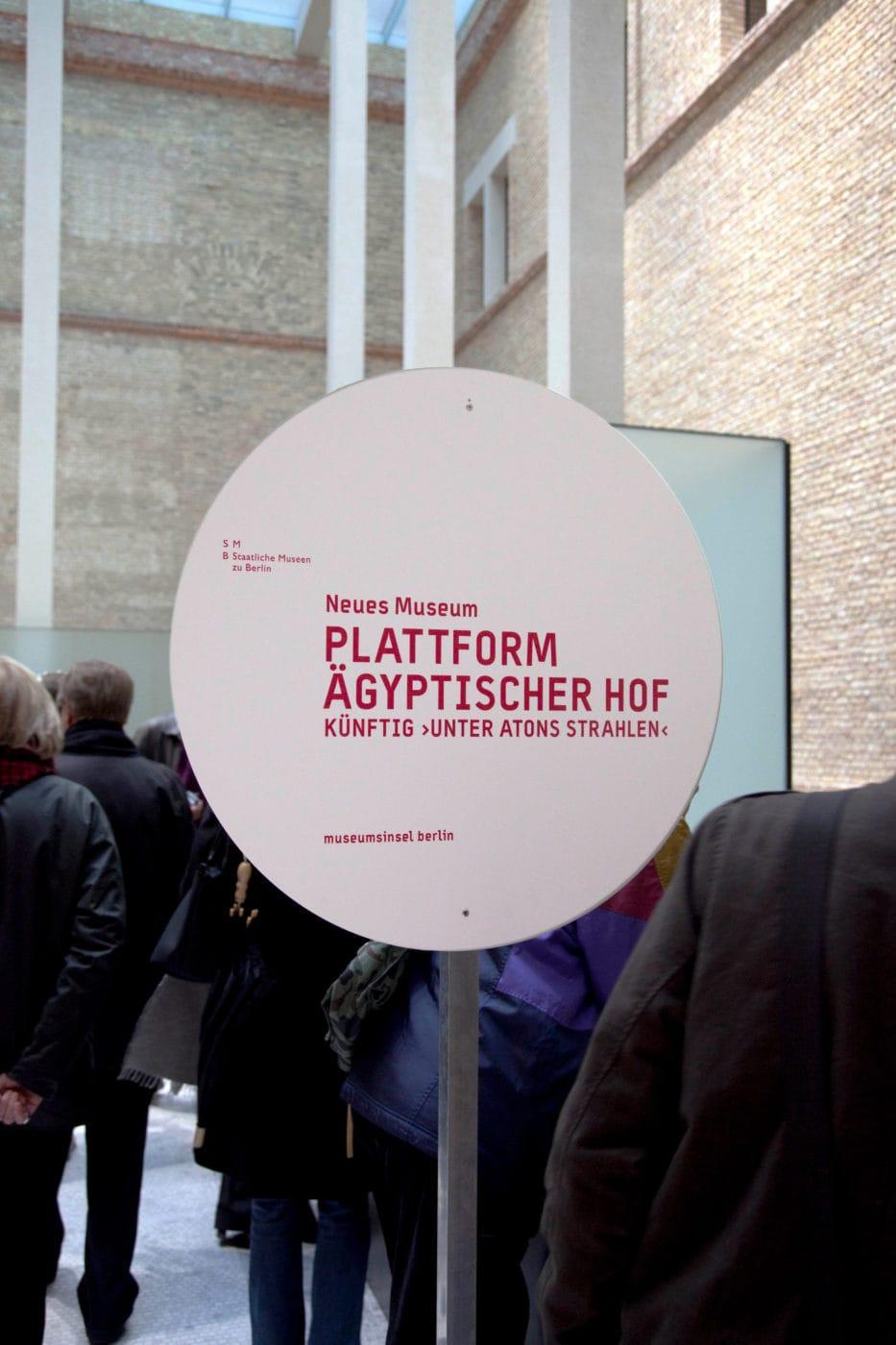 Museumsinsel Berlin Baustellenkommunikation Innen Signage NeuesMuseum