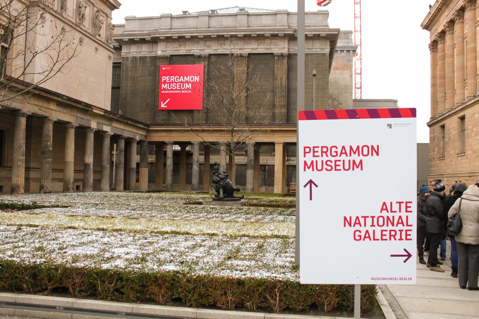 Museumsinsel Berlin Baustellenkommunikation Pergamon Museum