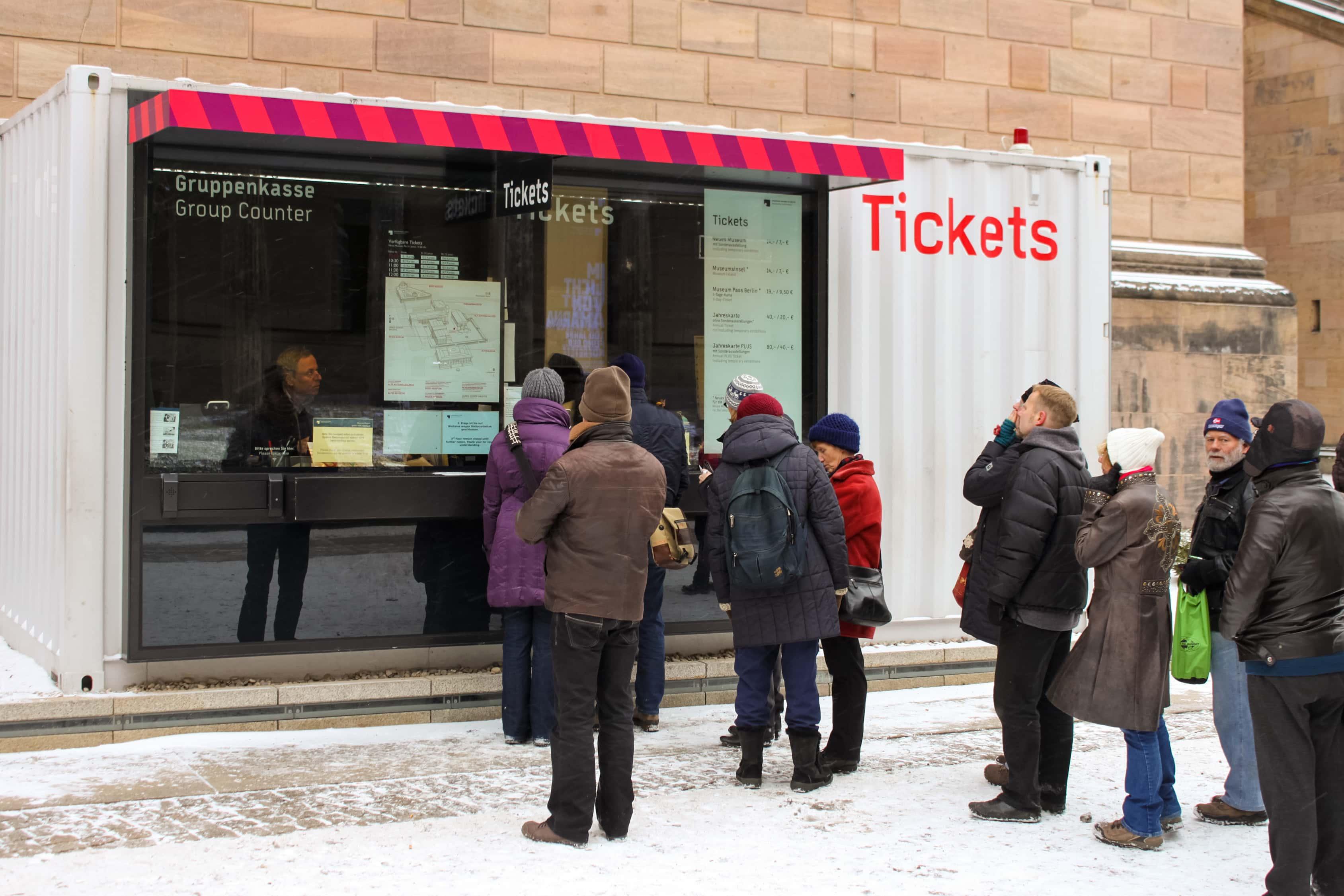 Museumsinsel Berlin Baustellenkommunikation Ticketcontainer