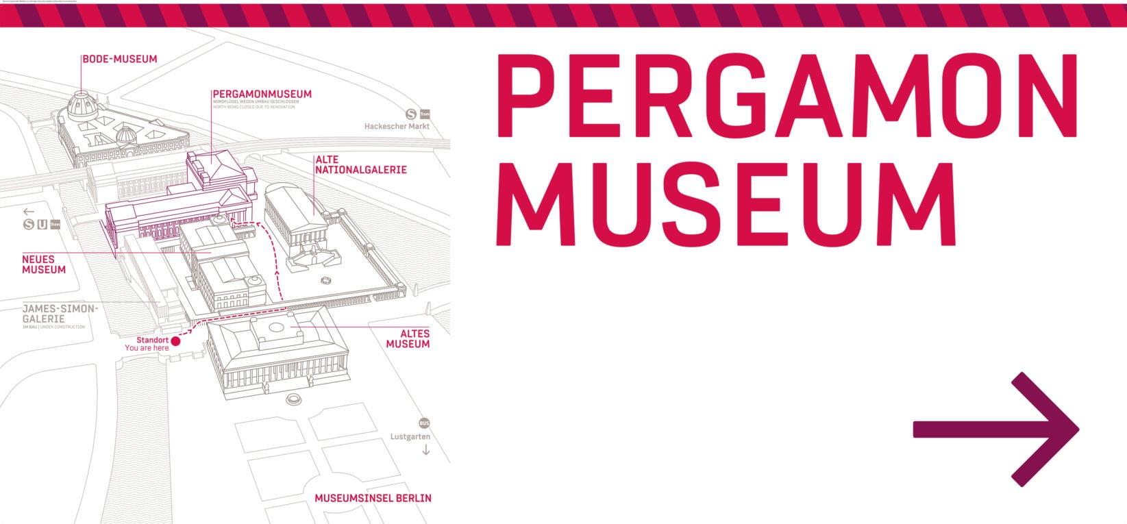 Museumsinsel Berlin Signage Bautunnel Grafik