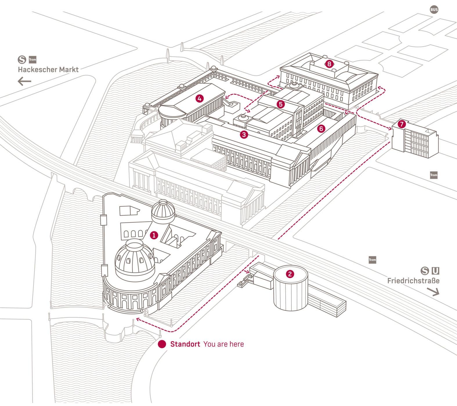 Museumsinsel Berlin Map Perspektive1