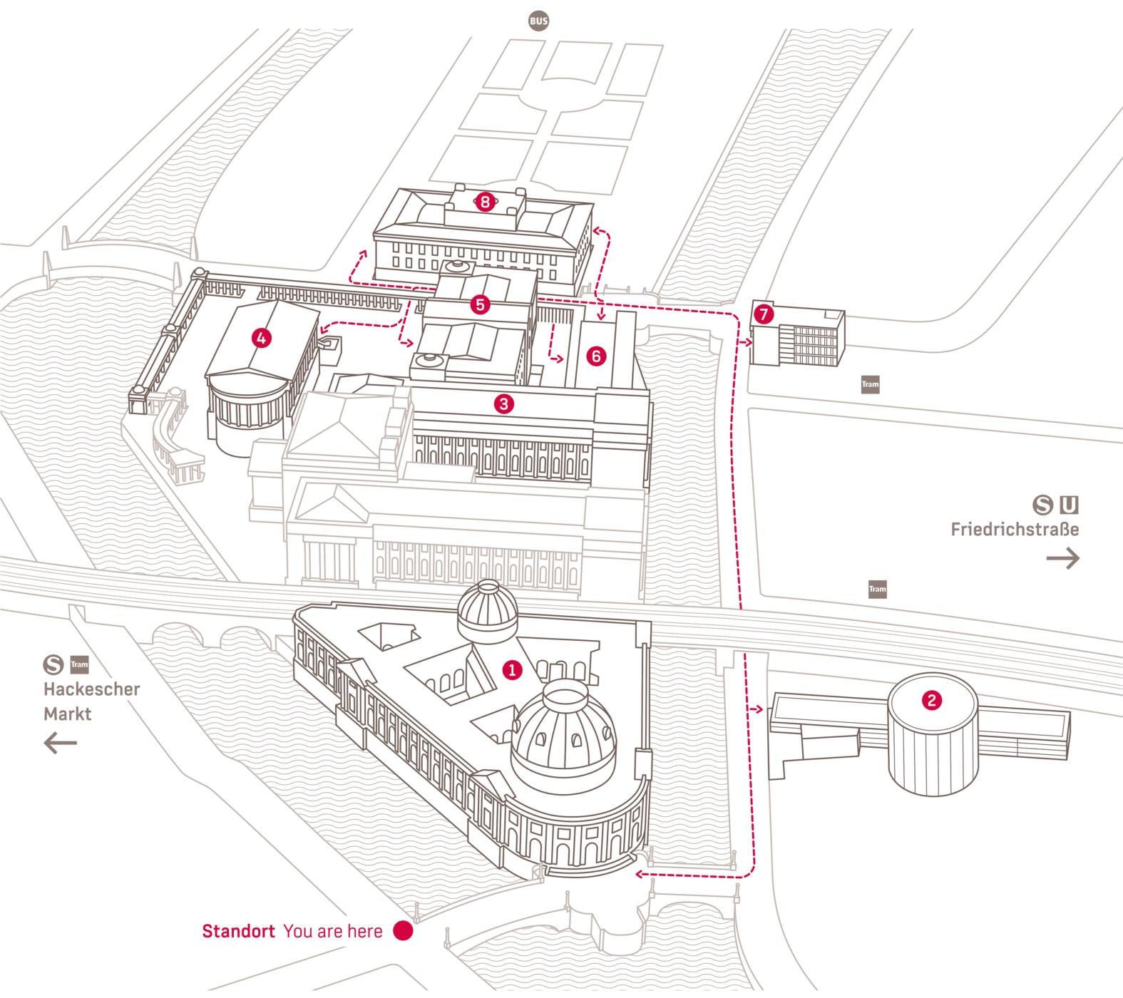 Museumsinsel Berlin Map Perspektive2