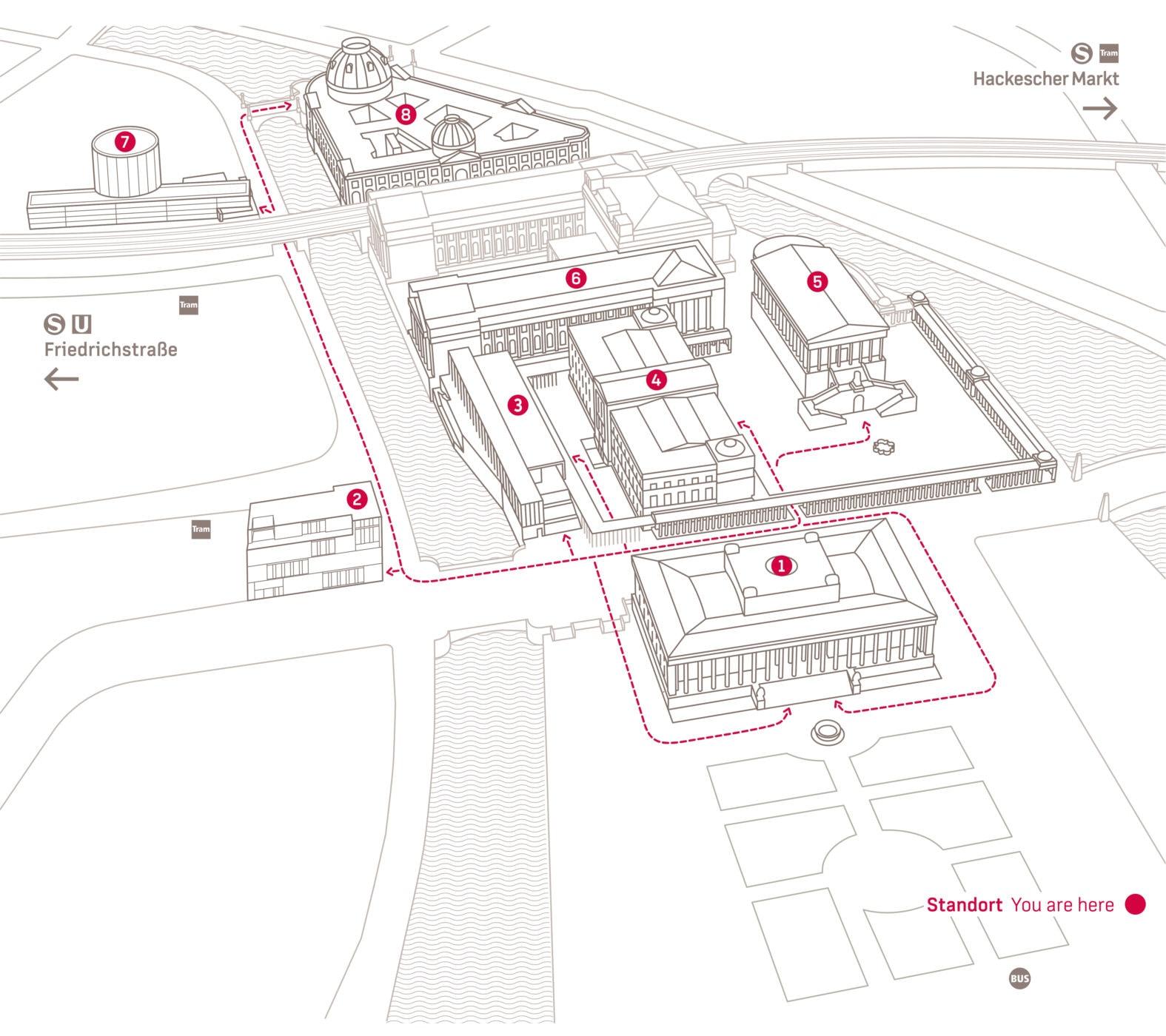 Museumsinsel Berlin Map Perspektive3