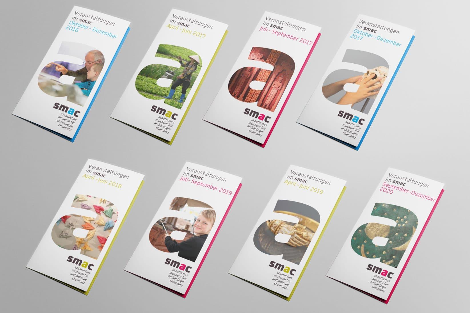 smac chemnitz corporate design veranstaltungsflyer flyer reihe