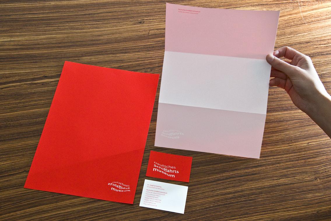 Corporate Identity DSM Briefbogen stationery rot Logo Wortmarke