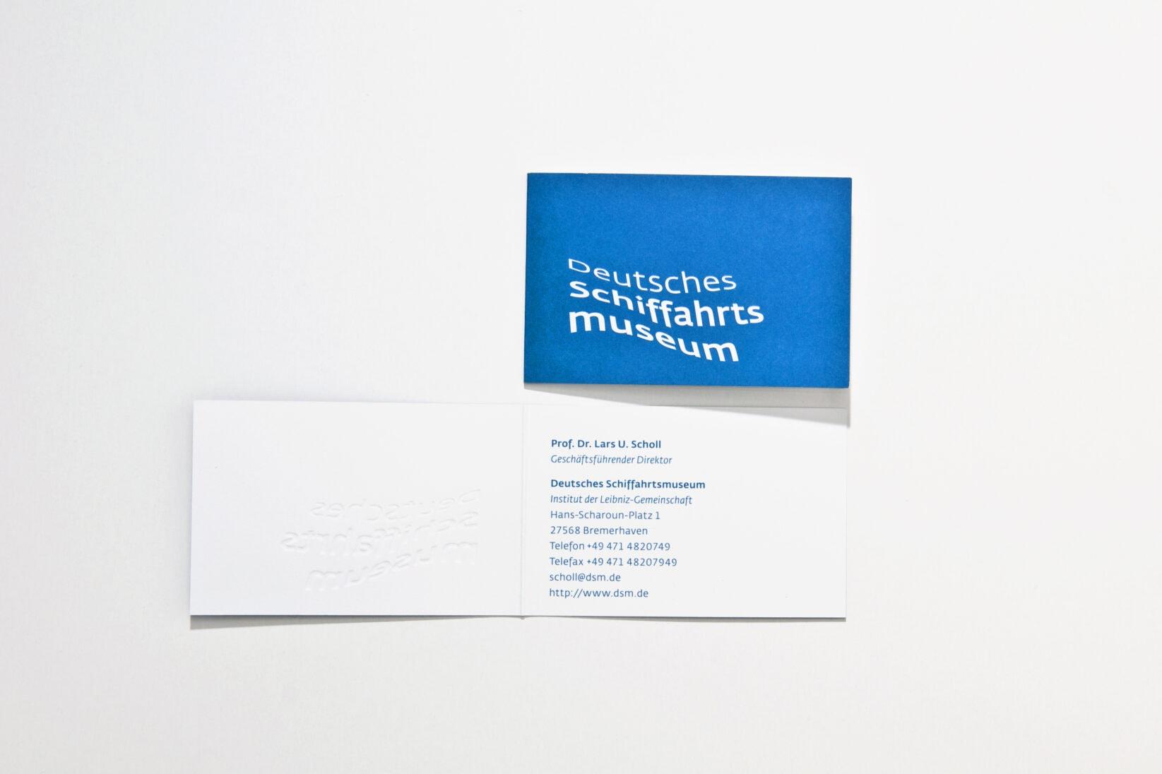 Corporate Identity DSM Visitenkarte stationery blau Logo Wortmarke