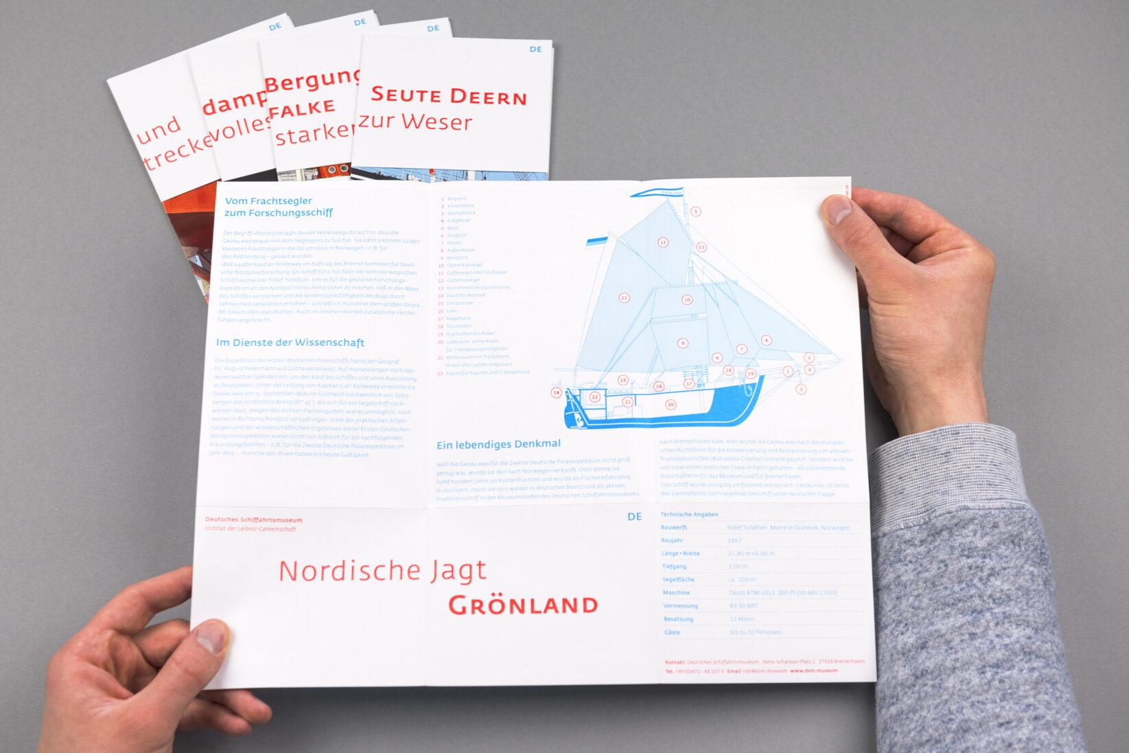 Corporate Identity DSM Broschüre Hafenführer Übersichtsplan Flyer Schiffsflyer 3