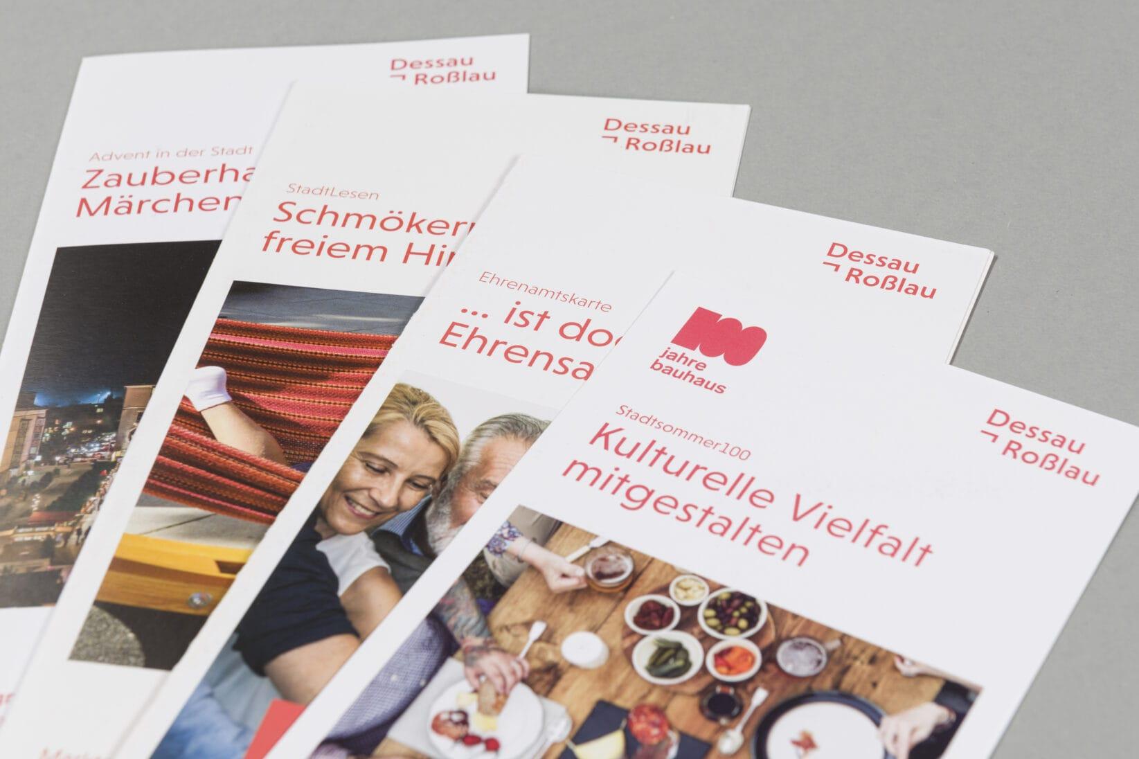 Dessau-Rosslau Coporate Design Flyer