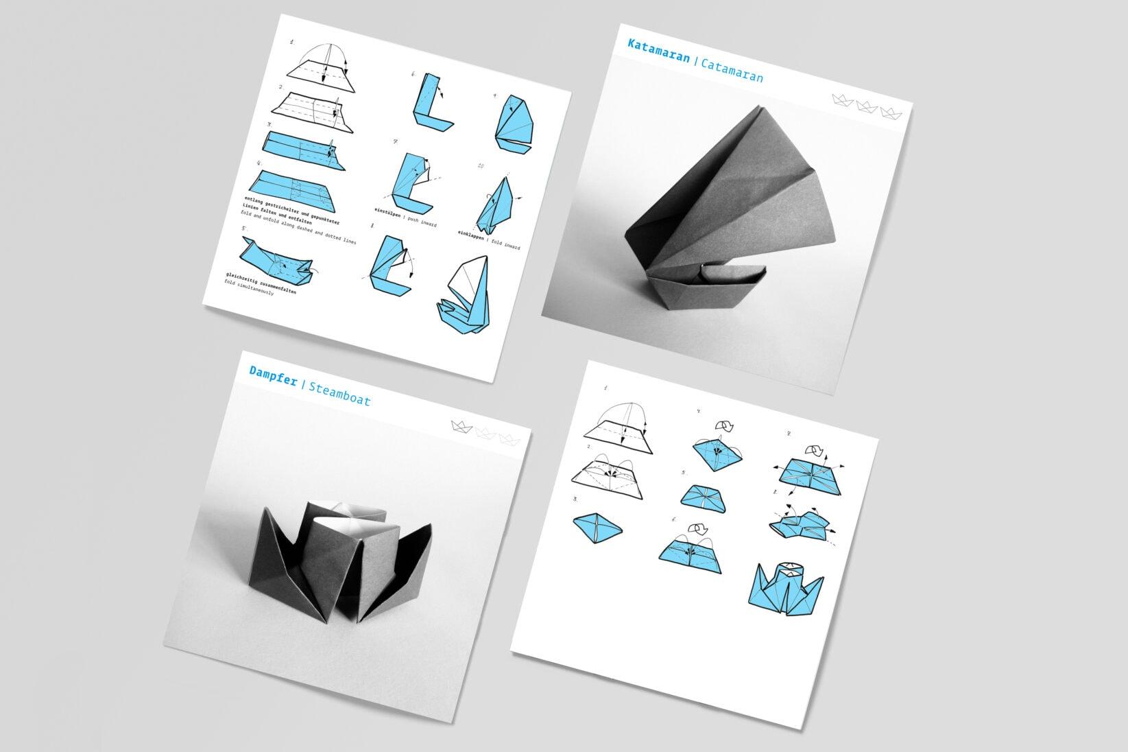 DSM Schifffahrtsmuseum Merchandise Origami Schiffsbau Papierschiffchen