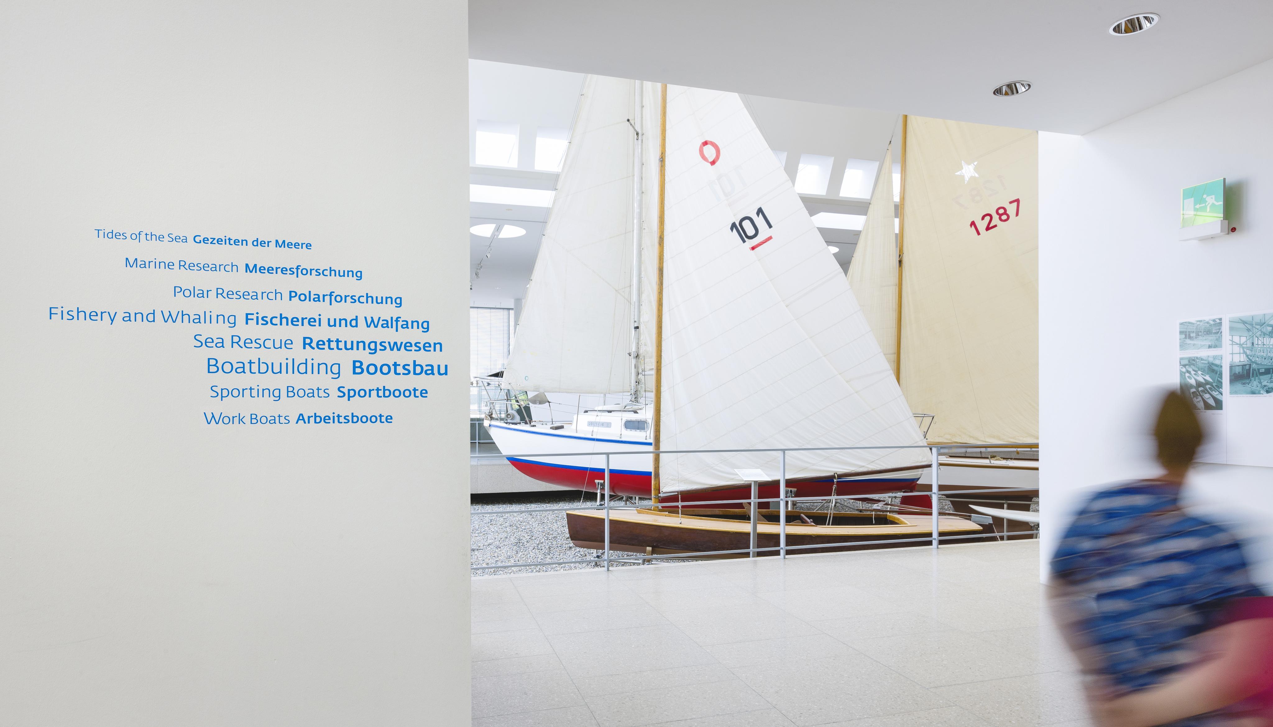 Leitsystem DSM Schifffahrtsmuseum Schwarm