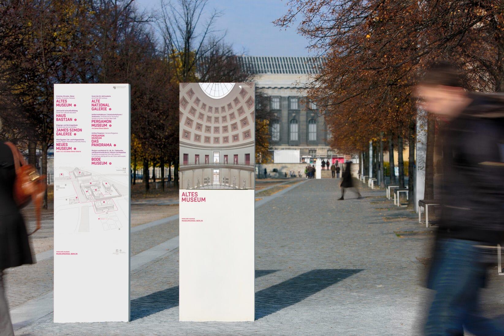 Museumsinsel Berlin Leitsystem Lustgarten