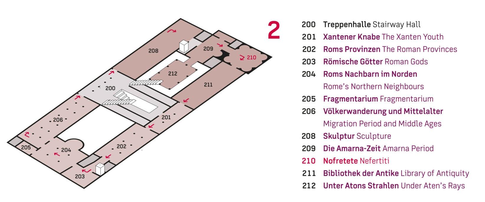 Museumsinsel Berlin Leitsystem Neues Museum Orientierungsplan Ausschnitt