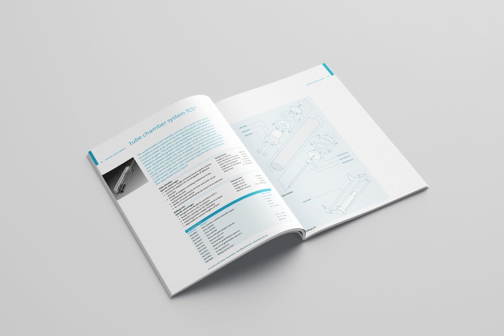 provitro Corporate Design Katalog Innenseite Grafik