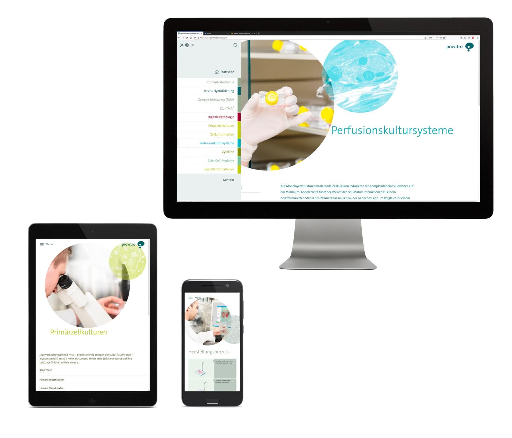 provitro Corporate Design Website Responsive
