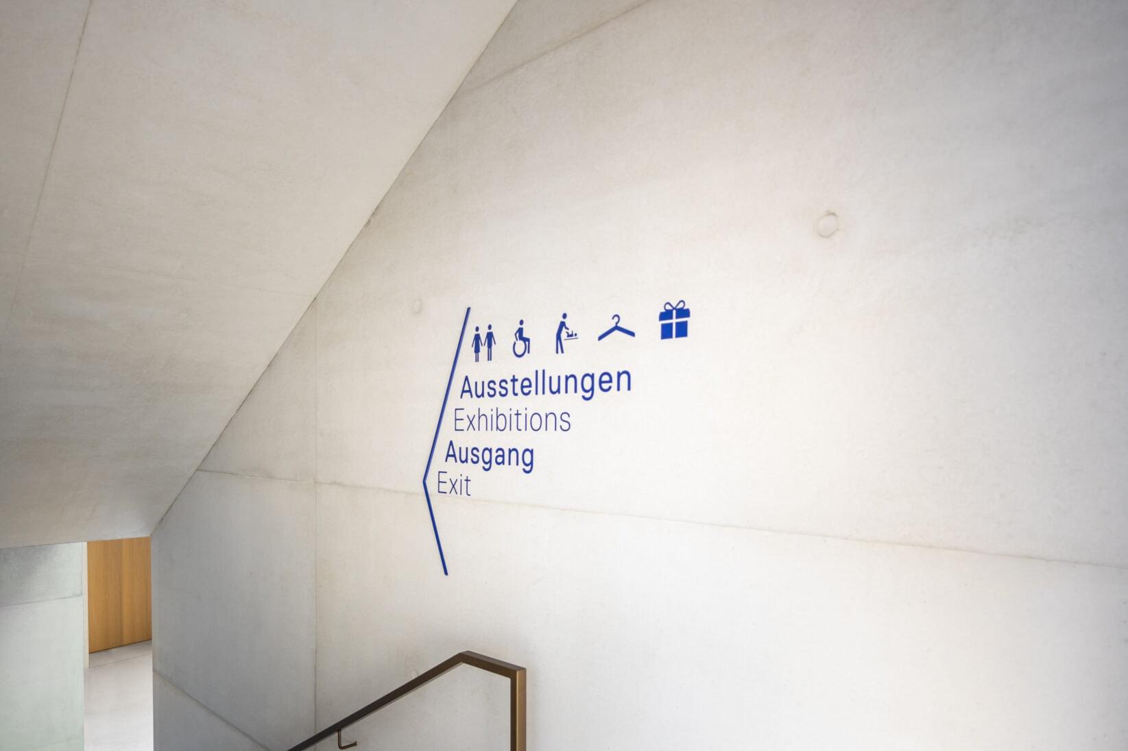 Jüdisches Museum Frankfurt Leitsystem Wegeleitung